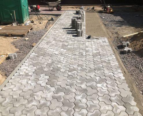 укладка тротуарной плитки в Московской области